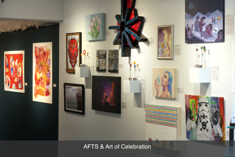 Local austin art gallery exhibition art of celebration