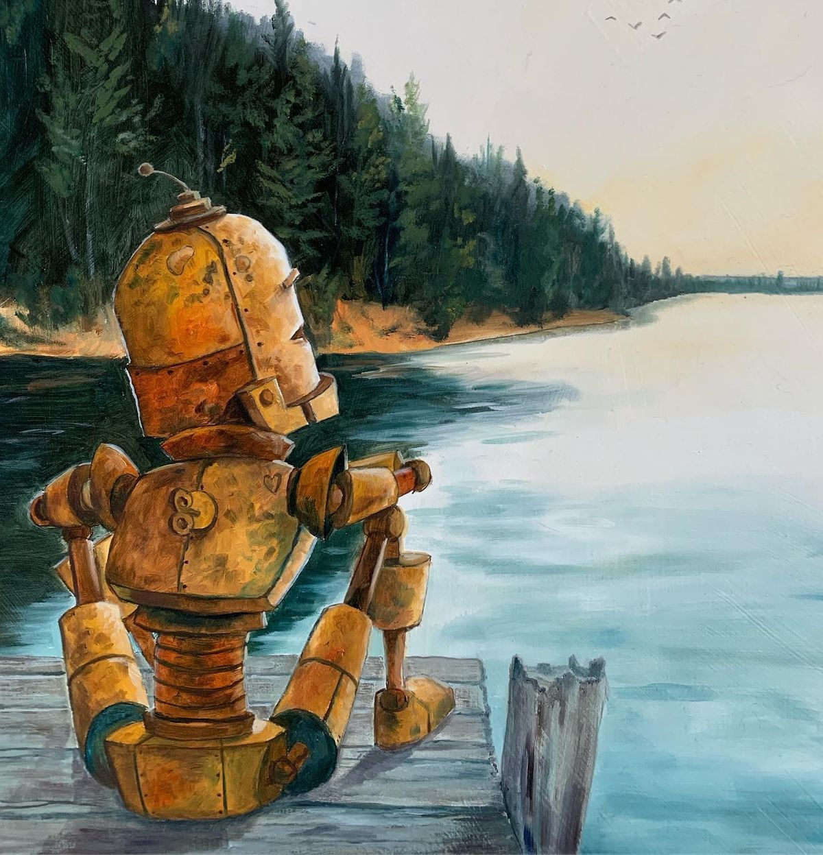 Robots_in_Rowboats_art_by_Lauren_briere_dock_o_the_bay_bot_austin_art_local_art.JPG