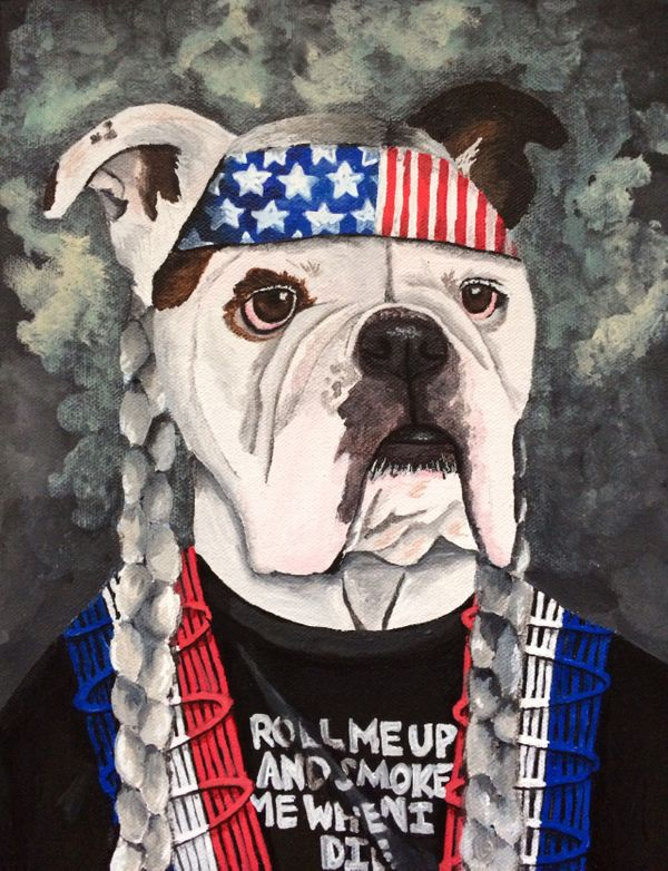 Local Austin artist Mammas don_t let your babies grow up to be bulldog by Katie Stahl.jpg