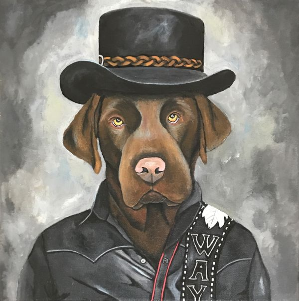 Local Austin artist Mammas Don_t Let Your Babies Grow Up to Be Labradors by Katie Staul.jpg