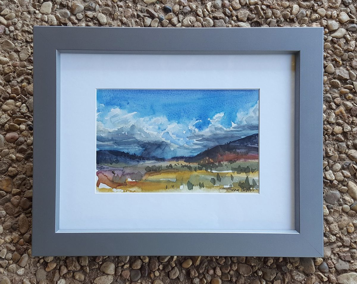 6a_Gena_Destri_McGill_Westward Mountains 2 Framed_Austin Art_Austin Artist_Austin Gift.jpg