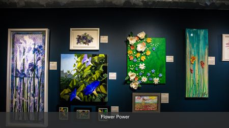 previous exhibition local austin gallery flower power