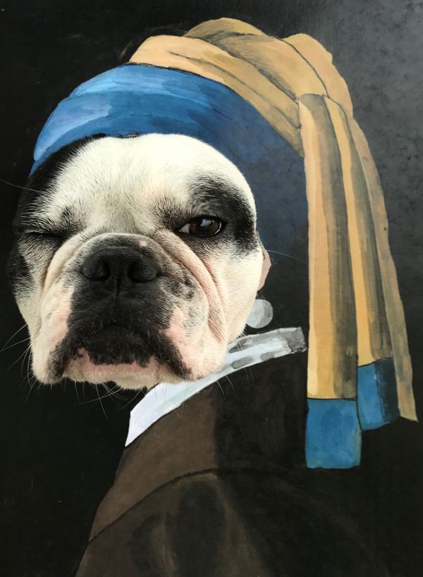 Local Austin artist Dog with a pearl earring by Katie Stahl.jpg