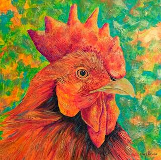 Cheryl_Freeman_Rooster_Thought_Nothing_to_crow_about_Austin_Art_Austin_Gifts_local_Art.jpg