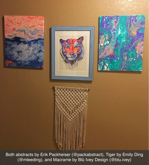 local austin artist emily ding and Blu Ivey Design