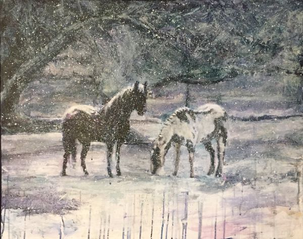 Rydia_Mun_Winter among Friends (horses in snow).jpg
