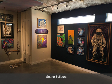 Local austin art gallery scene builders