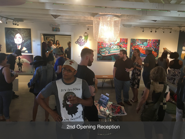 Local austin art gallery opening reception