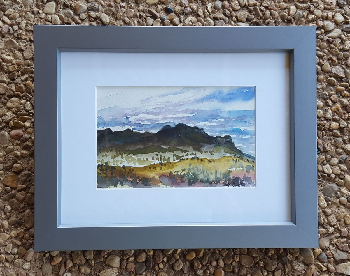 5a_Gena_Destri_McGill_Westward Mountains 1 Framed_Austin Art_Austin Artist_Austin Gift.jpg
