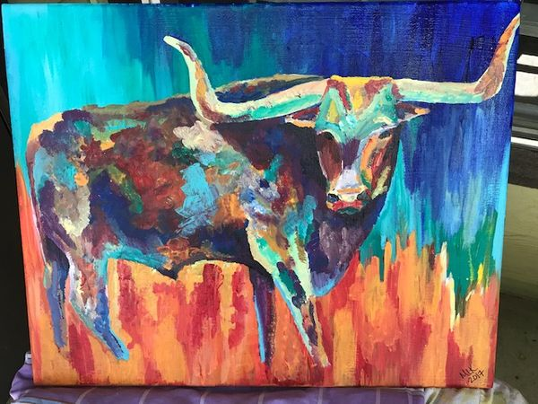 Local Austin artist Longhorn by M L Keating.JPG