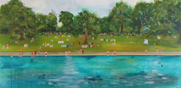 Local Austin artist A Friday Afternoon at Barton Springs by Holli Hartman.jpg