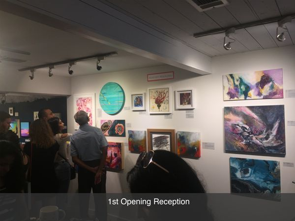 Local art gallery and artisan market opening reception