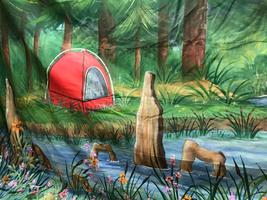 Camping River 14x30.JPG