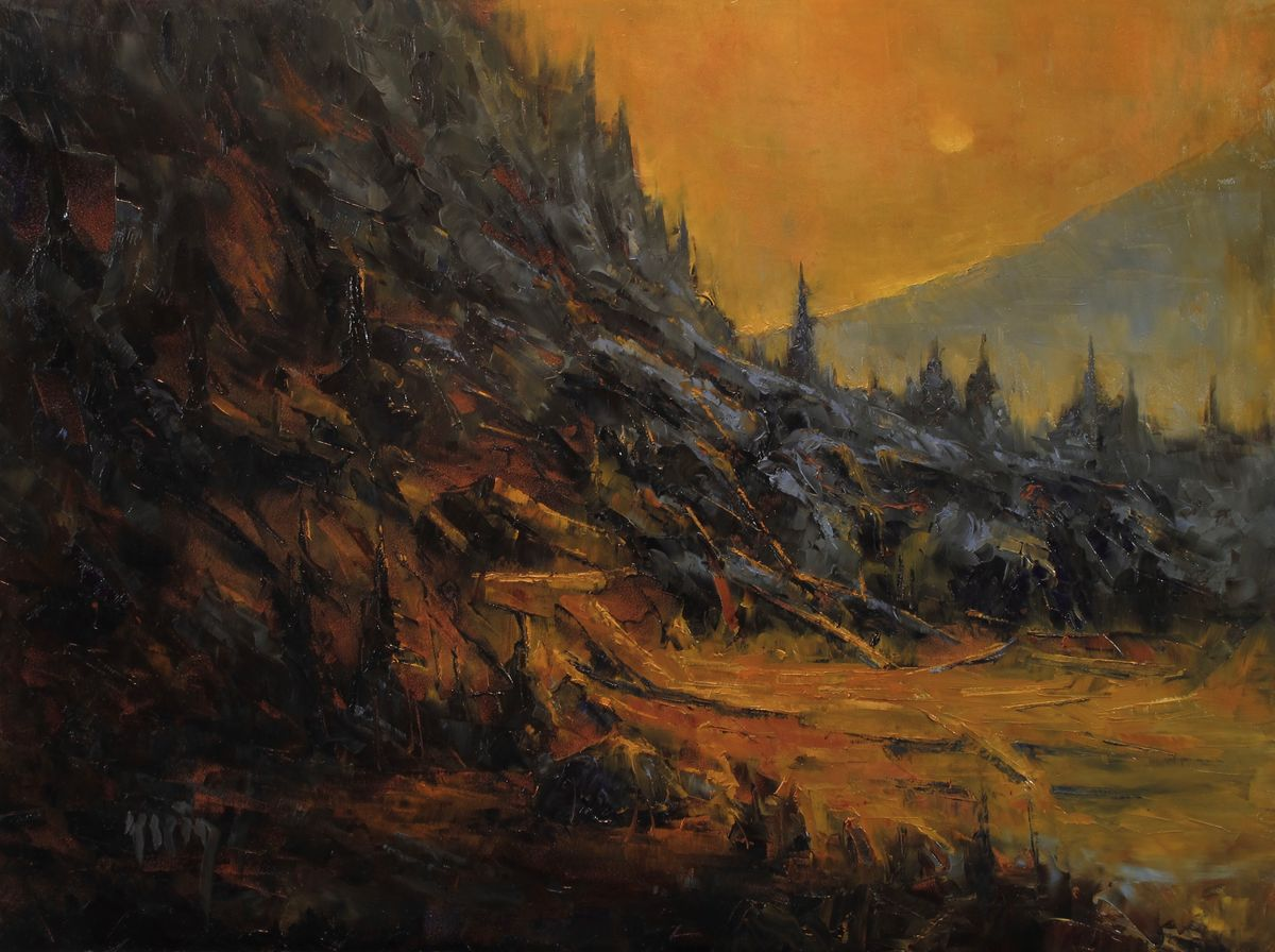 The Tradgedy at Big Moose 12x16 Varnished.jpg