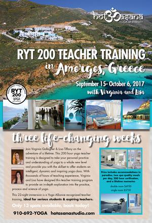 200 hr  Teacher Training in Greece