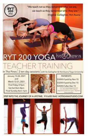 200 Hour Intensive In The Pines in Person Training
