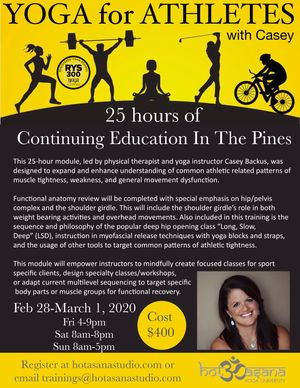 yoga for athletes in The Pines- SOLD OUT