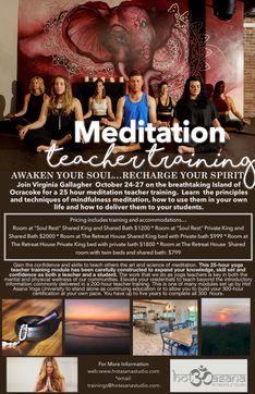 25 Hours | Meditation Teacher Training