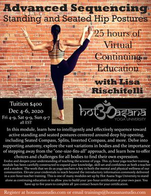 25 Hour Advanced Sequencing - Standing & Seated Hip Postures