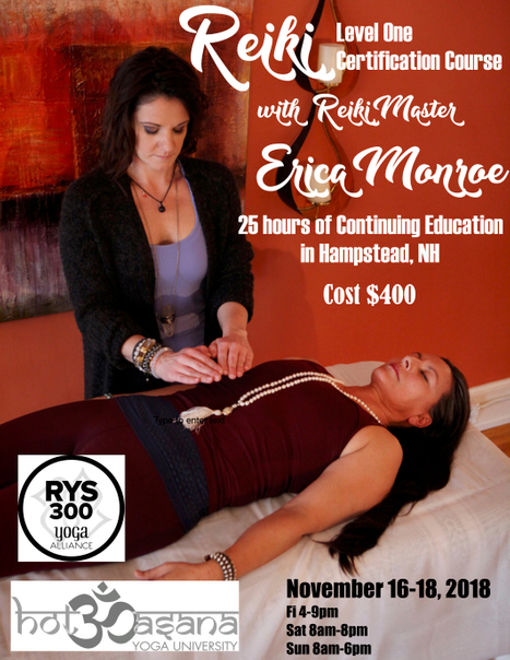 25 hour Reiki Level One Training in New Hampshire
