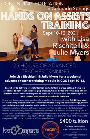 25 Hours   Hands On Assisting *in Colorado Springs*