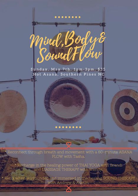 Mind Body & Sound Flow in Southern Pines