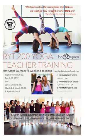 200 hr Teacher Training in Durham, NC