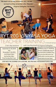 200 Hour Hot Vinyasa Teacher Training in COS