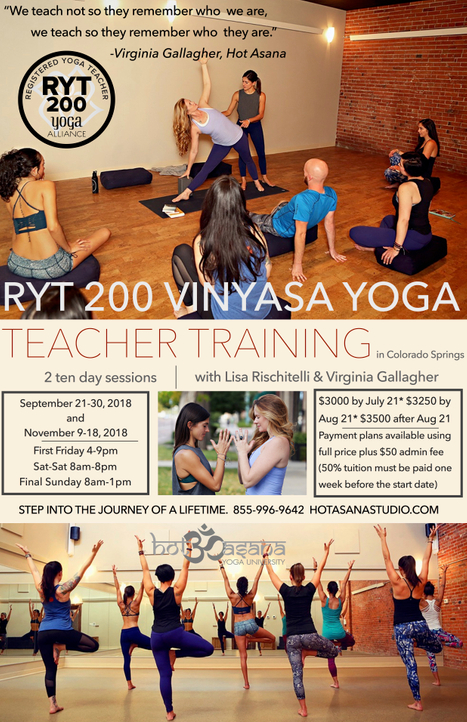 200 Hour Hot Vinyasa Teacher Training in COS