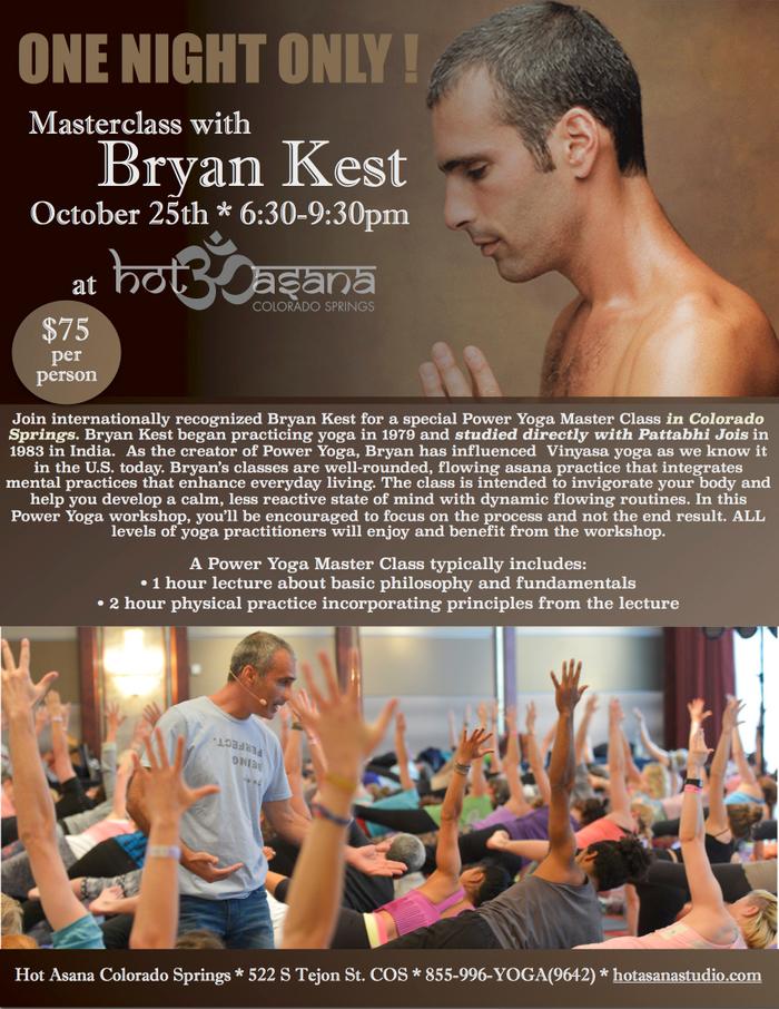Bryan Kest Masterclass in COS