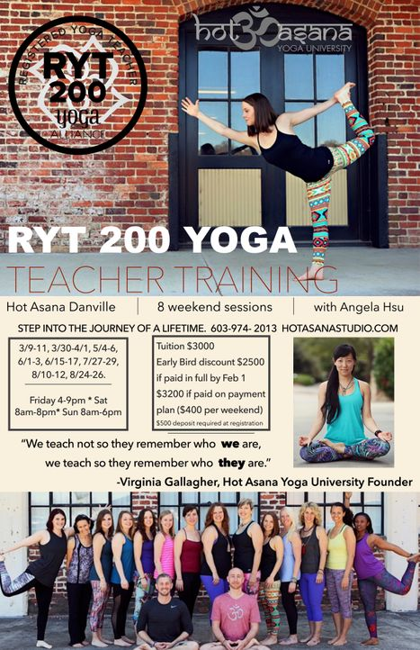 200 hr Teacher Training in Danville, VA