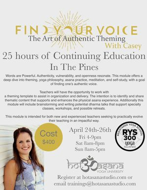 find your voice in The Pines