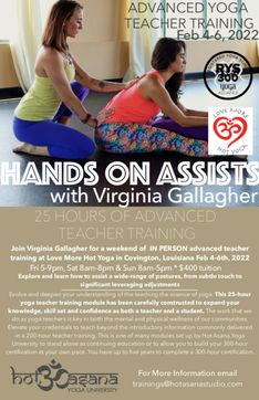 25 Hours | Hands-On Assisting *at Love More Hot Yoga*