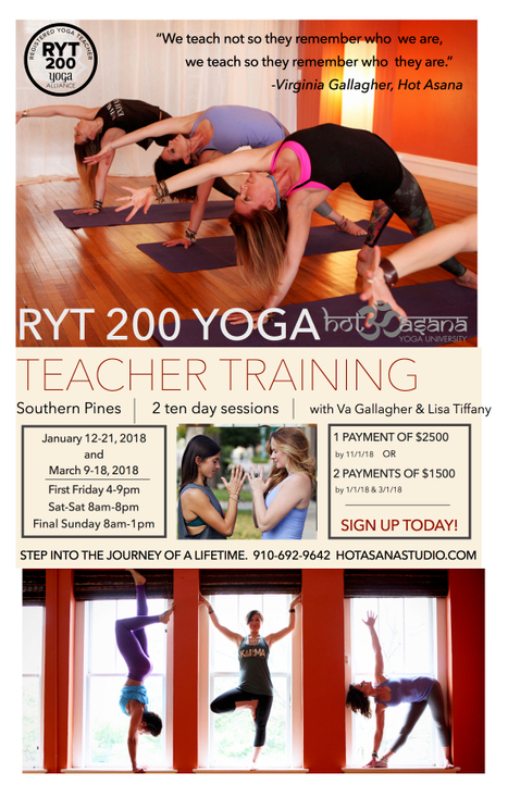 200 hr Teacher Training in Southern Pines