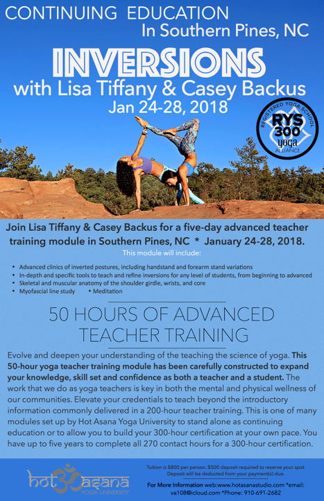 50 hour Inversion module in Southern PInes