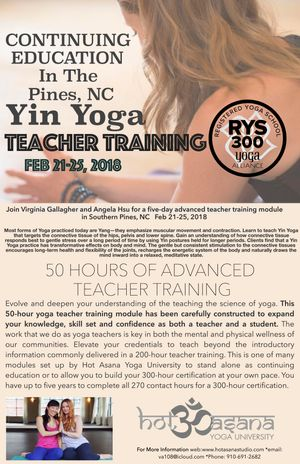 50 hr Yin module in The Pines, NC