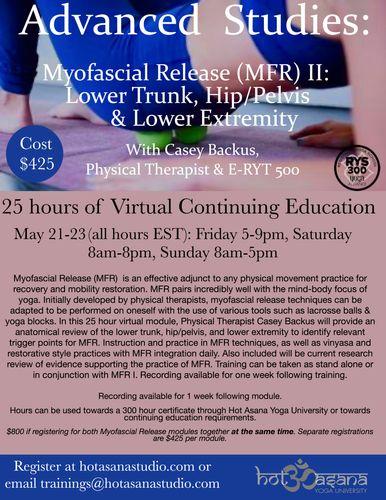 Virtual Myofascial Release (MFR) II