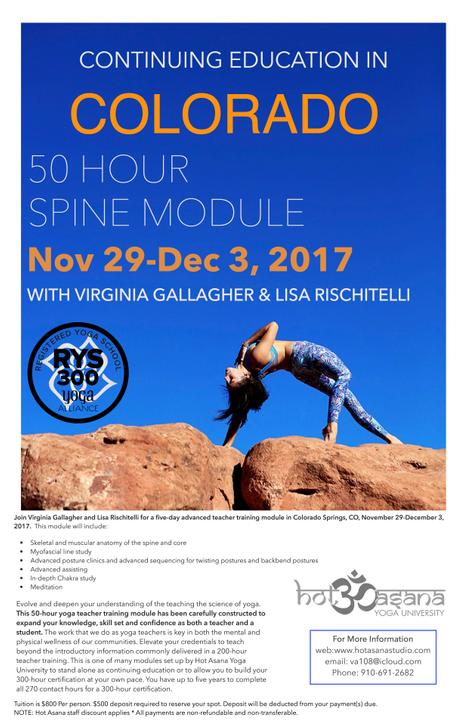 50 hr Spine & Chakra Module