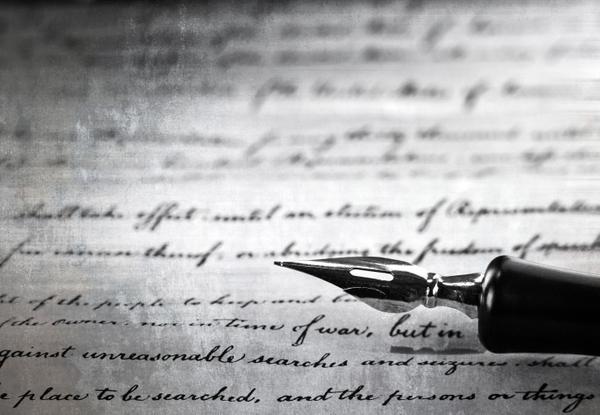 Vintage Pen On A Handwritten Paper Macro Black And White Shot.jpg