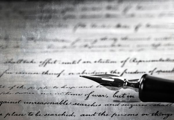 Vintage Pen On A Handwritten Paper Macro Black And White Shot.jpg