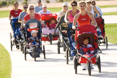 Stroller Strides is a fitness program for moms and babies.