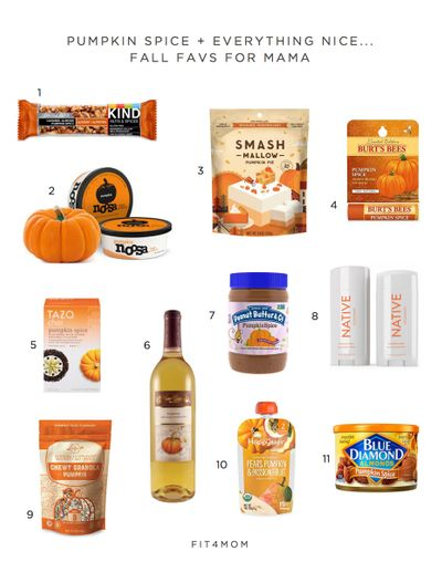 pumpkin spice fall favorites for mom