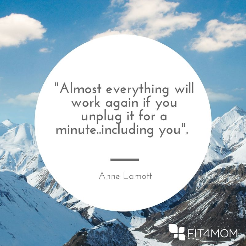 Anne Lamott said that -Almost everything will work again if you unplug it for a minute..including you-. Wise words..jpg