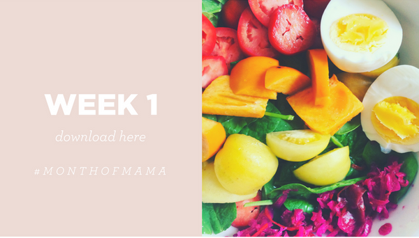 month of mama week 1 workouts