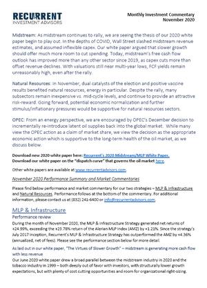 Nov 20 - FCF Expansion, Vaccine Rally