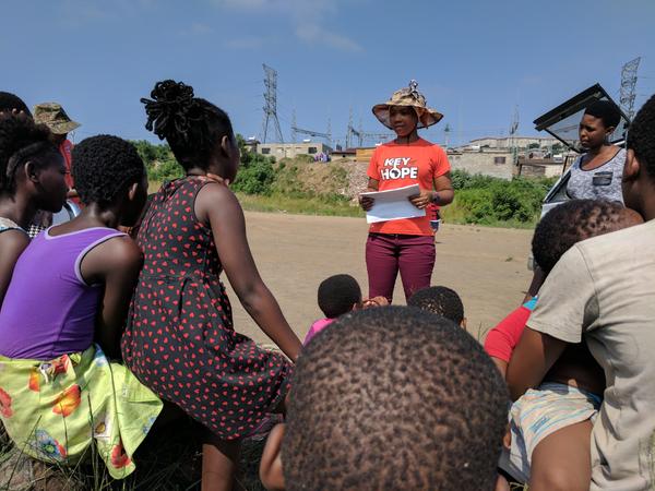 Key of Hope staff member discipling children