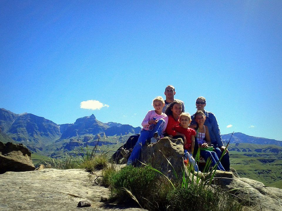 Dan Smither and family in Durbin, South Africa