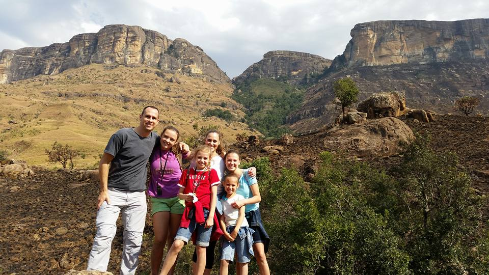 Dan & Rachel Smither and family in South Africa