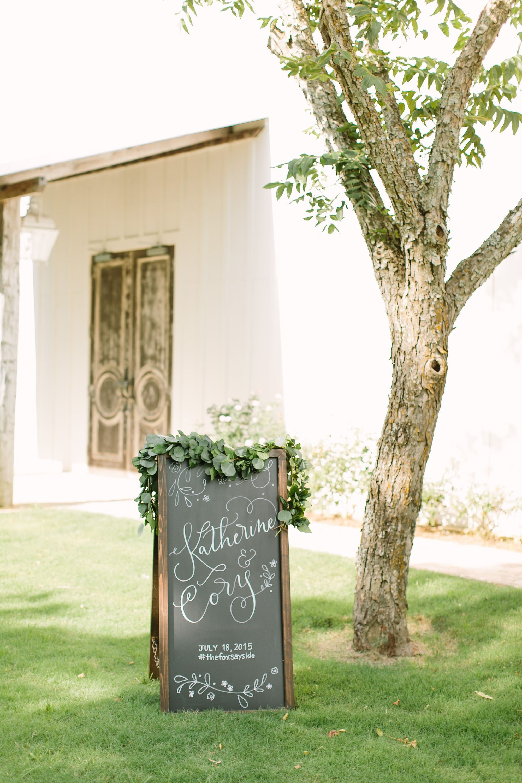 wedding sign decor