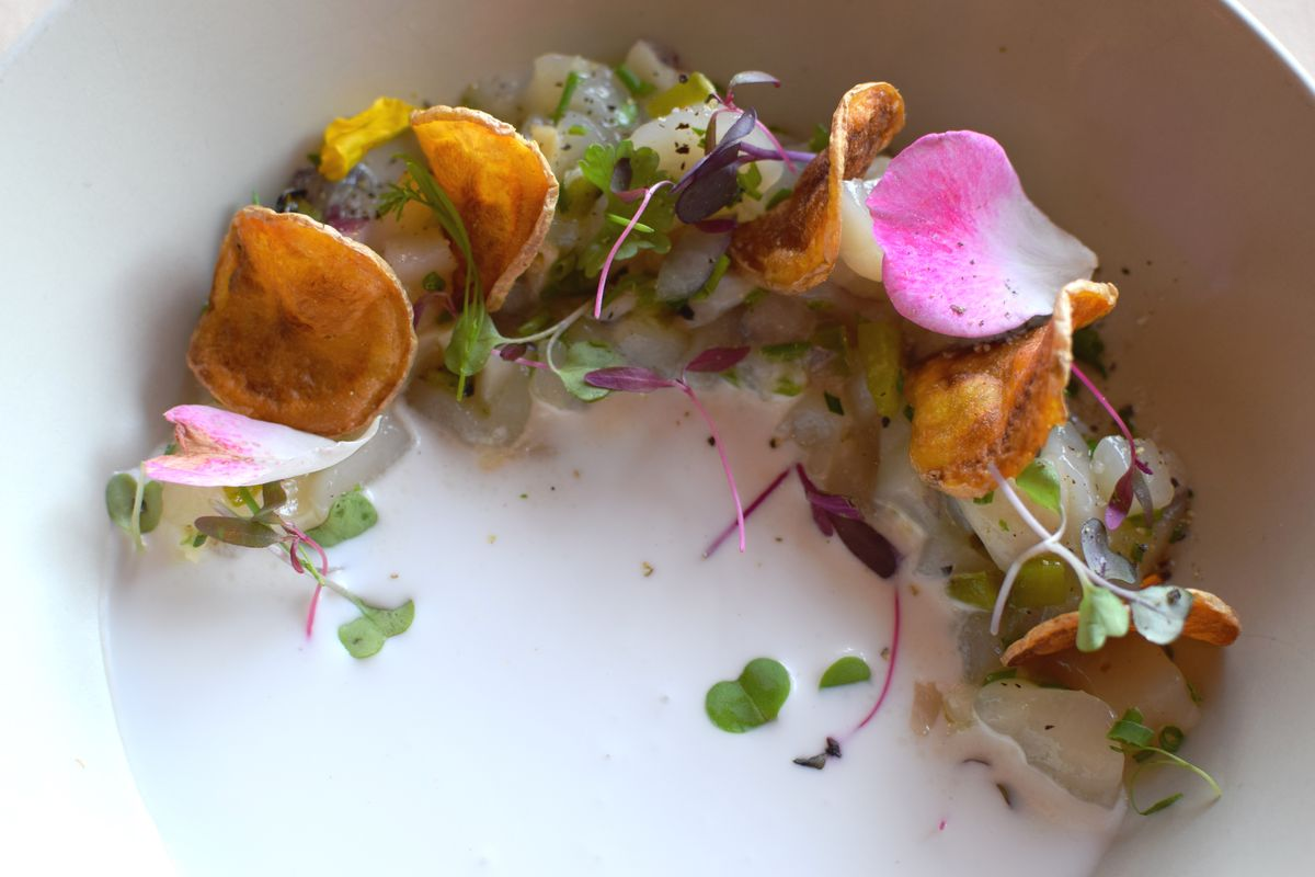 Tartare of Diver Scallop, Coconut Cream, Charred Jalapeno and Lychee Salsa with Potato Chips (2).jpg